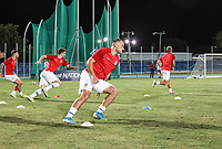 GEORGETOWN, GRAND CAYMAN, CAYMAN ISLANDS - NOVEMBER 19: Jordan Morris #11 of the United States warming up during a game between Cuba and USMNT at Truman Bodden Sports Complex on November 19, 2019 in Georgetown, Grand Cayman.