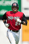 Carolina center fielder Brett Carroll jogs back to the dugout after making an out versus Tennessee at Five County Stadium in Zebulon, NC, Sunday, July 2, 2006.  The Mudcats defeated the Smokies 4-0.