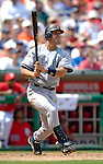 17 June 2006: Jorge Posada, catcher for the New York Yankees, hits a solo homerun against the Washington Nationals at RFK Stadium, in Washington, DC. The Nationals overcame a seven run deficit to win 11-9 in the second game of the interleague series...Mandatory Photo Credit: Ed Wolfstein Photo...