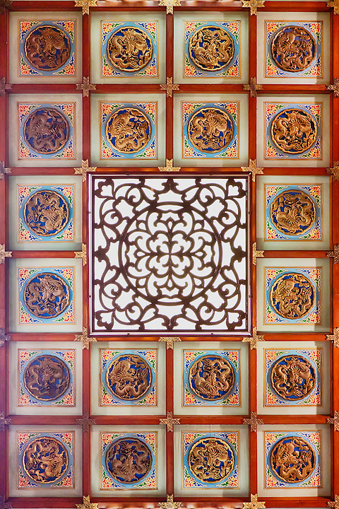 East side-chamber ceiling.