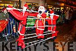 Dancing Santas at the Kiilarney Christmas parade on Saturday night