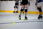 Houston Roller Derby Jammers take the line.