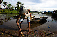 Aged fisherman minding his own business. Jaque, Panama.