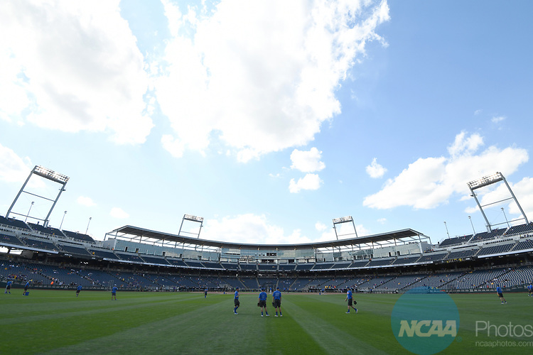 OMAHA, NE - JUNE 26: Louisiana State University takes on the University of Florida during the Division I Men's Baseball Championship held at TD Ameritrade Park on June 26, 2017 in Omaha, Nebraska. The University of Florida defeated Louisiana State University 4-3 in game one of the best of three series. (Photo by Jamie Schwaberow/NCAA Photos via Getty Images)