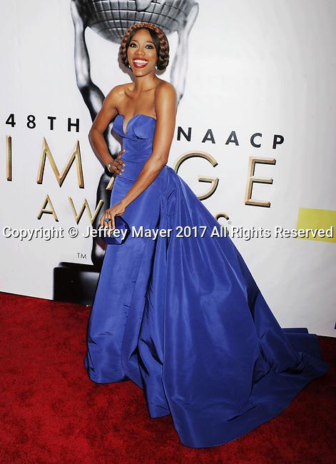 PASADENA, CA - FEBRUARY 11: Actress Yvonne Orgi arrives at the 48th NAACP Image Awards at Pasadena Civic Auditorium on February 11, 2017 in Pasadena, California.
