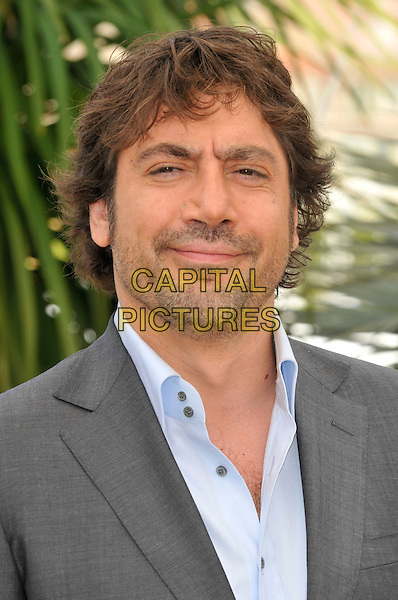 JAVIER BARDEM.during the photocall of 'Biutiful' presented in competition at the 63rd International Cannes Film Festival, Cannes, France, May 17th, 2010..portrait headshot grey gray blue shirt beard facial hair.CAP/PL.©Phil Loftus/Capital Pictures.