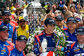 Verizon IndyCar Series<br /> Indianapolis 500 Race<br /> Indianapolis Motor Speedway, Indianapolis, IN USA<br /> Sunday 28 May 2017<br /> Takuma Sato, Michael Andretti Autosport Honda celebrates the win in Victory Lane with milk<br /> World Copyright: Scott R LePage<br /> LAT Images<br /> ref: Digital Image lepage-170528-indy-10659<br /> ref: Digital Image lepage-170528-indy-10698