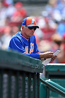 New York Mets manager Terry Collins (10) during a Spring Training game against the St. Louis Cardinals on April 2, 2015 at Roger Dean Stadium in Jupiter, Florida.  The game ended in a 0-0 tie.  (Mike Janes/Four Seam Images)