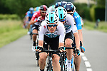 The peleton with Team Sky on the front in action during Stage 2 of the 2018 Criterium du Dauphine 2018 running 181km from Montbrison to Belleville, France. 5th June 2018.<br /> Picture: ASO/Alex Broadway | Cyclefile<br /> <br /> <br /> All photos usage must carry mandatory copyright credit (&copy; Cyclefile | ASO/Alex Broadway)