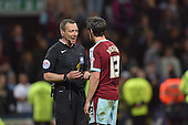 22/04/2016 Sky Bet Championship Preston North End v Burnley<br /> Kevin Friend books Joey Barton