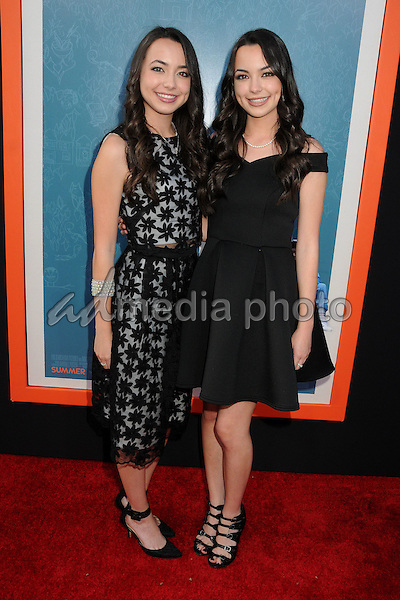 "3 June 2015 - West Hollywood, California - Veronica Merrell, Vanessa Merrell. ""Me And Earl And The Dying Girl"" Los Angeles Premiere held at the Harmony Gold Theatre. Photo Credit: Byron Purvis/AdMedia"