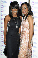 Easther and Vernie Bennett arriving at James' Jog On To Cancer Event, Kensington Roof Gardens, London. 09/04/2014 Picture by: Alexandra Glen / Featureflash