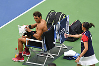 FLUSHING NY- SEPTEMBER 10: Rafael Nadal at the US Open Men's Final Championship match at the USTA Billie Jean King National Tennis Center on September 10, 2017 in Flushing, Queens. <br /> CAP/MPI/PAL<br /> &copy;PAL/MPI/Capital Pictures