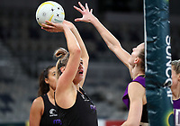 22.09.2018 Silver Ferns Te Paea Selby-Rickit in action during Silver Ferns training in Melbourne. Mandatory Photo Credit ©Michael Bradley.