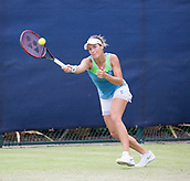 June 13th 2017, Nottingham, England; WTA Aegon Nottingham Open Tennis Tournament day 4;  Tatjana Maria of Germany reaches for a forehand
