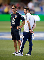 Ben Olsen, Josh Wolff.  The MLS All-Stars defeated Chelsea, 3-2.