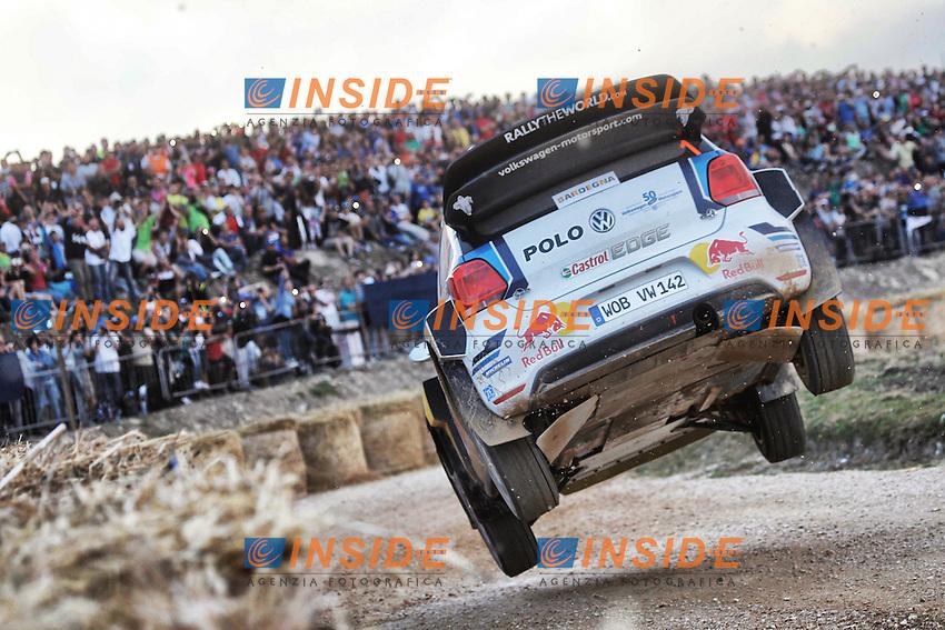 Sebastien Ogier (FR) / Julien Ingrassia (FR) - Volkswagen Polo WRC <br /> Rally di Sardegna 2016 <br /> Foto Lavadinho / Panoramic / Insidefoto