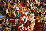 01/15/13--Cleveland Cavaliers shooting guard Dion Waiters (3) shoots over Portland Trail Blazers point guard Damian Lillard (0) in the first half at Moda Center.<br />
