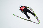 Sara Takanashi of Japan jumps during the Women's Normal Hill Individual training session of the 2014 Sochi Olympic Winter Games at Russki Gorki Ski Juming Center on February 9, 2014 in Sochi, Russia. Photo by Victor Fraile / Power Sport Images