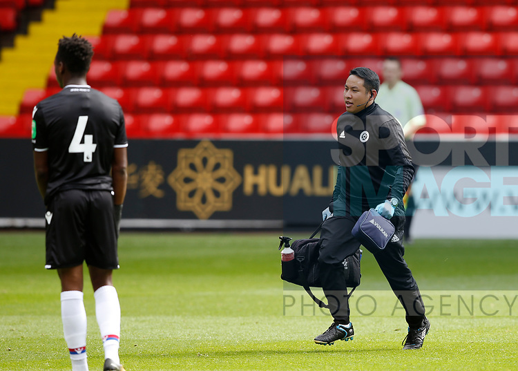 Academy U23 physio during the Professional Development U23 match at Bramall Lane, Sheffield. Picture date 4th September 2017. Picture credit should read: Simon Bellis/Sportimage