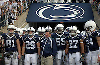 05 November 2005:  Joe Paterno prepares to lead his Penn State team out of the tunnel and onto the field..The Penn State Nittany Lions defeated the Wisconsin Badgers 35-14 November 5, 2005 at Beaver Stadium in State College, PA..