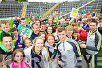 James O'Donoghue and Marc O'Se at Kerry GAA family day at Fitzgerald Stadium on Saturday.