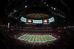 ATLANTA, GA - JANUARY 08: The kickoff takes place prior to the College Football Playoff National Championship held at Mercedes-Benz Stadium on January 8, 2018 in Atlanta, Georgia. (Photo by Jamie Schwaberow/Getty Images)