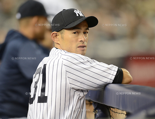 Ichiro Suzuki (Yankees),.APRIL 26, 2013 - MLB :.Ichiro Suzuki of the New York Yankees stands in the dugout during the baseball game against the Toronto Blue Jays at Yankee Stadium in The Bronx, New York, United States. (Photo by AFLO)