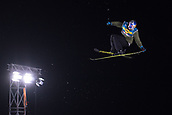 1st December 2017, Moenchengladbach, Germany;  Oystein Braaten of Norway  in action in the men's finals of the Big Air Freestyle Skiing World Cup at the SparkassenPark venue in Moenchengladbach, Germany, 1 December 2017.