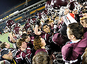 Orchard Park Quakers varsity football against Christian Brothers Academy during the NYSPSHAA Class-AA Central-Western Semi-Finals at Sahlen's Stadium on November 17, 2012 in Rochester, New York. Orchard Park defeated CBA 26-14 to advance to the state championship game. (Copyright Mike Janes Photography)