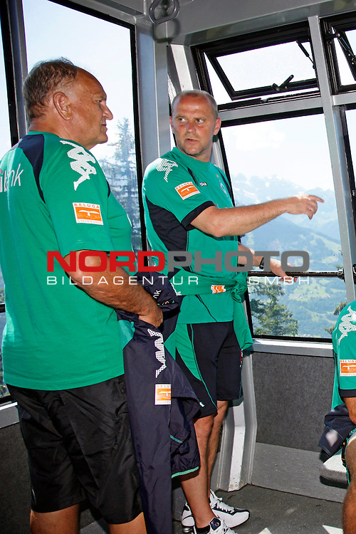 FBL 08/09 Trainingslager  Werder Bremen - 2008 Schruns / &Ouml;sterreich  - Day <br /> <br /> Feature <br /> <br /> <br /> Am Freitag mittag fuhr der Bremer Trainerstab und der F&uuml;hrung von Thomas Schaaf ( Bremen GER - Trainer  COACH) und J&uuml;rgen L. Born (Vorsitzender der Gesch&auml;ftsf&uuml;hrung und Gesch&auml;ftsf&uuml;hrer Finanzen und &Ouml;ffentlichkeitsarbeit) mit der Hochjochbahn auf den Berg.<br /> <br /> Thomas Schaaf ( Bremen GER - Trainer  COACH) J&uuml;rgen L. Born (Vorsitzender der Gesch&auml;ftsf&uuml;hrung und Gesch&auml;ftsf&uuml;hrer Finanzen und &Ouml;ffentlichkeitsarbeit)<br /> <br /> Foto &copy; nph (nordphoto )<br /> <br /> <br /> <br />  *** Local Caption ***