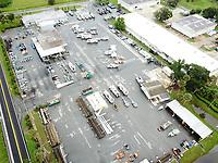 FPL service center preparing for Hurricane Dorian in St. Augustine, Fla. on September 3, 2019.