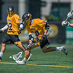 16 April 2016: University of Maryland, Baltimore County Retriever Midfielder Pat Clipp, a Freshman from Ellicott City, MD, in action against the University of Vermont Catamounts at Virtue Field in Burlington, Vermont. The Retrievers fell to the Catamounts 14-10 in NCAA Division I play. Mandatory Credit: Ed Wolfstein Photo *** RAW (NEF) Image File Available ***