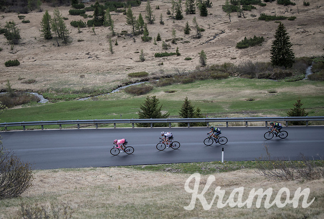 Maglia Rosa / overall leader Tom Dumoulin (NED/Sunweb) racing at the front of the peloton<br /> <br /> Stage 17: Tirano &rsaquo; Canaze (219km)<br /> 100th Giro d'Italia 2017