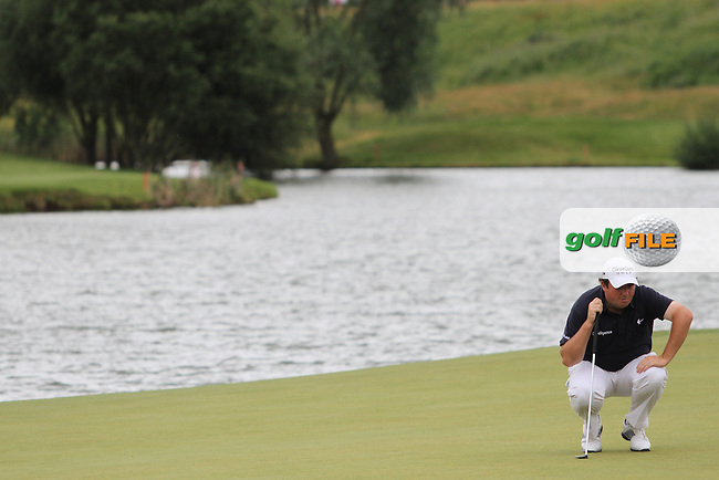 Shane Lowry (IRL) on the 18th on Day 3 of the Alstom Open de France at Golf National,  Saint-Quentin-En-Yvelines, Paris, France, 7/7/12...(Photo Jenny Matthews/www.golffile.ie)