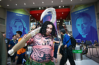 NEW YORK, USA - October 3: A Cosplayer fan poses during day one of New York Comic Con on October 3, 2019 in New York, USA.<br /> The 2019 New York Comic-Con at the Jacob K. Javits Convention Center Day 1 with the latest in superhero movies, sci-fi shows, animation, video games, comic book releases available to attendees.<br /> (Photo by Luis Boza/VIEWpress/Corbis via Getty Images)