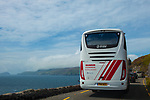 Traffic jam in Paradise - tourist bus and traffic stopped on oneSlea Head, Dingle Peninsula, Co. Kerry, Ireland