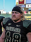Baylor Bears fullback Erik Wolfe (48) in action during the game between the Southern Methodist Mustangs and the Baylor Bears at the Floyd Casey Stadium in Waco, Texas. Baylor defeats SMU 59 to 24.