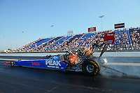 Jul. 1, 2012; Joliet, IL, USA: NHRA top fuel dragster driver T.J. Zizzo during the Route 66 Nationals at Route 66 Raceway. Mandatory Credit: Mark J. Rebilas-