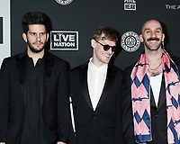 LOS ANGELES - JAN 4:   Adam Levin, Casey Harris, and Sam Harris - X Ambassadors at the Art of Elysium Gala - Arrivals at the Hollywood Palladium on January 4, 2020 in Los Angeles, CA