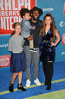 LOS ANGELES, CA. November 05, 2018: Allison Holker, Stpehen Boss, Weslie Fowler &amp; Maddox Laurel Boss at the world premiere of &quot;Ralph Breaks The Internet&quot; at the El Capitan Theatre.<br /> Picture: Paul Smith/Featureflash