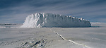 Iceberg in McMurdo Sound. Antarctica.