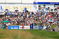 Jon Rham (ESP) on the 1st tee during Round 4 of the HNA Open De France at Le Golf National in Saint-Quentin-En-Yvelines, Paris, France on Sunday 1st July 2018.<br /> Picture:  Thos Caffrey | Golffile