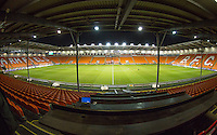 General view of the Stadium ahead of the The Checkatrade Trophy match between Blackpool and Wycombe Wanderers at Bloomfield Road, Blackpool, England on 10 January 2017. Photo by Andy Rowland / PRiME Media Images.