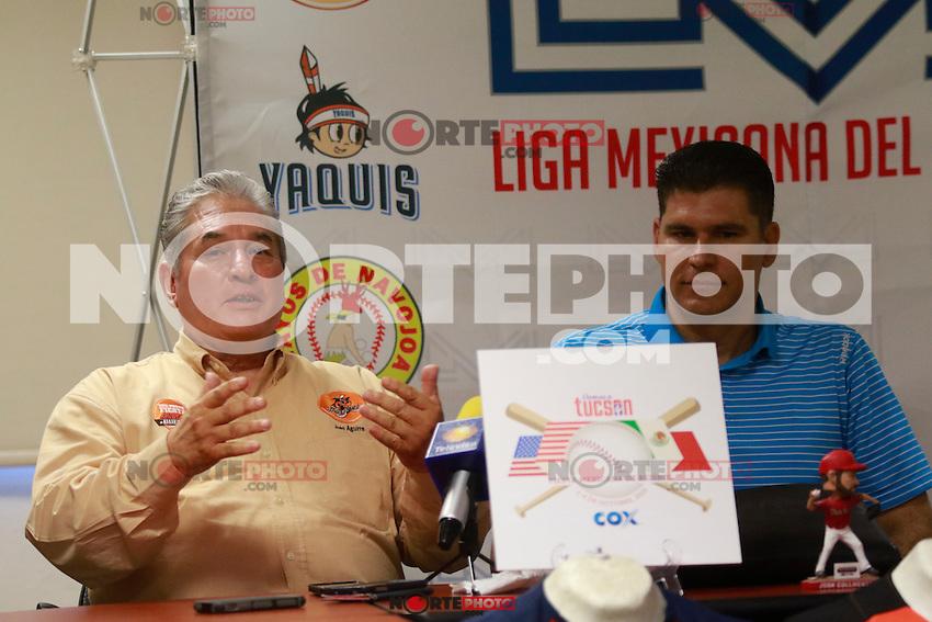 Rueda de prensa de la Fiesta Mexicana del Beisbol 201,5 en las oficinas de la Liga Mexicana del Pacifico.<br /> <br /> 28 de agosto 2015