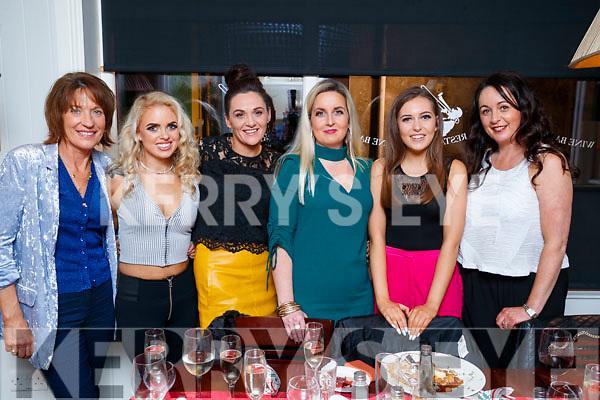 Mods and Minis staff enjoying their Christmas party at The Denny Lane restaurnt, Tralee, on Saturday night last were l-r: Gill Lynch, Megan Ryan, Joanne O'Sullivan, Alison Lyne, Lorraine Lyne and Kerrie McCord.