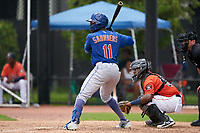 GCL Mets Warren Saunders (11) at bat during a Gulf Coast League game against the GCL Astros on August 10, 2019 at FITTEAM Ballpark of the Palm Beaches Training Complex in Palm Beach, Florida.  GCL Astros defeated the GCL Mets 8-6.  (Mike Janes/Four Seam Images)