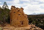 Painted Hand Pueblo ruins; Sleeping Ute Mt...Hovenweep National Monument, Utah