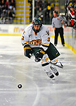 19 January 2008: University of Vermont Catamounts' forward Peter Lenes, a Junior from Shelburne, VT, in action against the Northeastern University Huskies at Gutterson Fieldhouse in Burlington, Vermont. The Catamounts defeated the Huskies 5-2 to close out their 2-game weekend series...Mandatory Photo Credit: Ed Wolfstein Photo