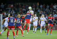 Boyds, MD - Saturday Sept. 03, 2016: Katie Stengel, Samantha Mewis during a regular season National Women's Soccer League (NWSL) match between the Washington Spirit and the Western New York Flash at Maureen Hendricks Field, Maryland SoccerPlex.